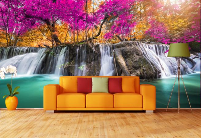 Фотообои Водопад в лесу
