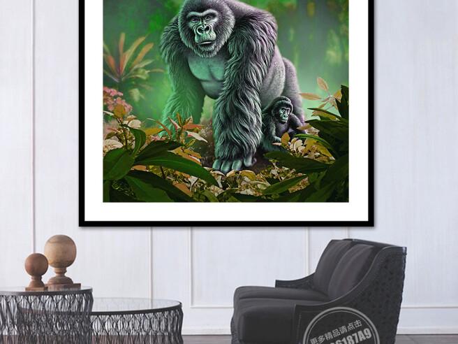 Фотообои Гориллы в джунглях